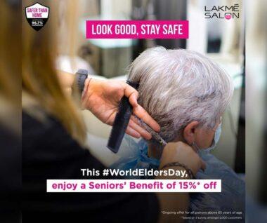 Lakmé Salon offers a Seniors' Benefit